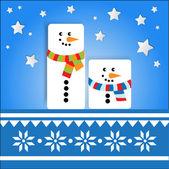 vektorové pozadí s snowmans.