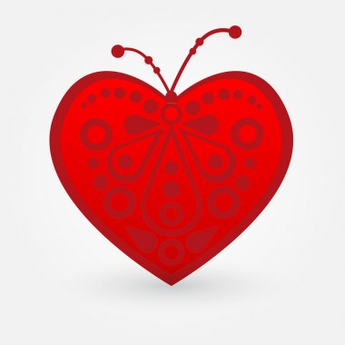 Vector illustration of a red heart. stock vector
