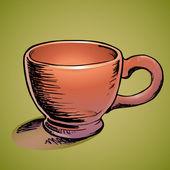 vektorové ilustrace hnědé Cup.