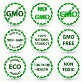 Organic eco and bio labels