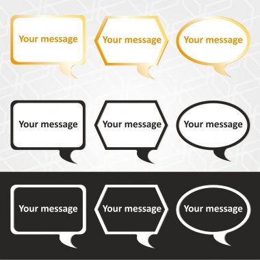 Speech bubbles set. Vector illustration. stock vector