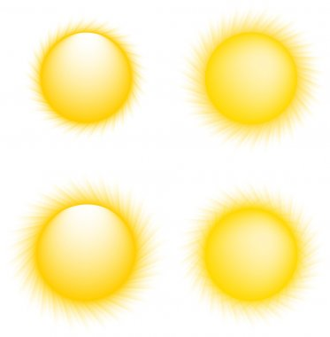 Vector Sun Icons. Sun Collection stock vector