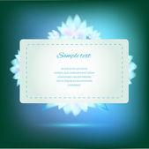 Pozvánka na zeleném pozadí s barevnými květy