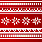 Vector red folk background.