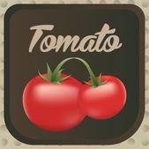 Tomato label design. Vector illustration.