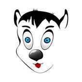 kutya arcát. vektoros illusztráció.