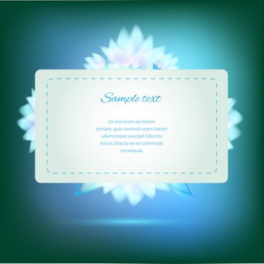 Invitation card on green background with colorful flowers stock vector