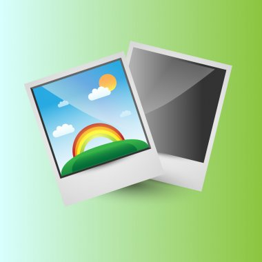 Bright background with photo frames. Abstract illustration stock vector