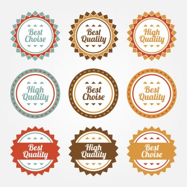 Collection of Premium and High Quality labels stock vector