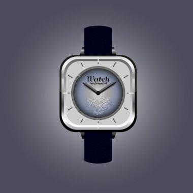 Analog Men's Wrist Watch detailed vector stock vector