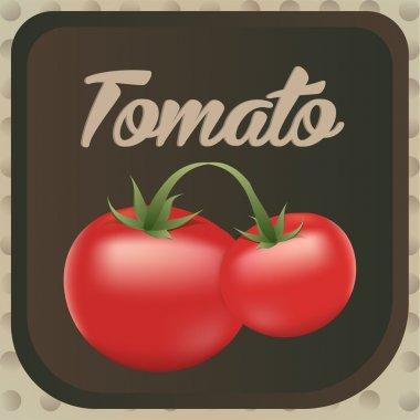 Tomato label design. Vector illustration. stock vector