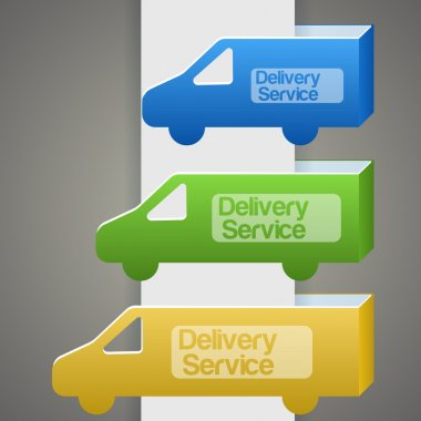Delivery truck with delivery sign stock vector