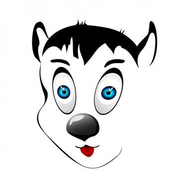 Dog face. Vector illustration. stock vector