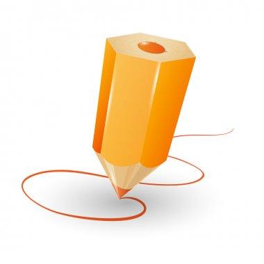 Pencil vector illustration. Vector illustration. stock vector