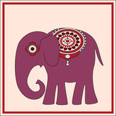 Vector background with elephant.