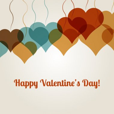 Vector background for Valentine's Day stock vector