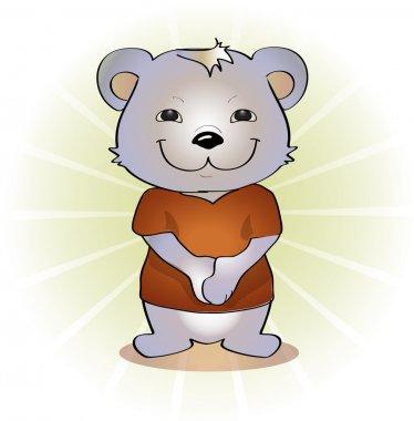 Vector illustration of cute bear. stock vector