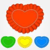 вектор комплекту наклейок у формі серця.