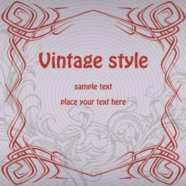 Vector vintage background design stock vector