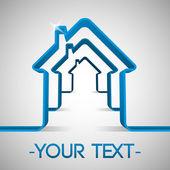 Vektor-Hintergrund mit Haus-Symbol.