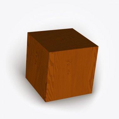 Vector wooden box. Vector illustration. stock vector