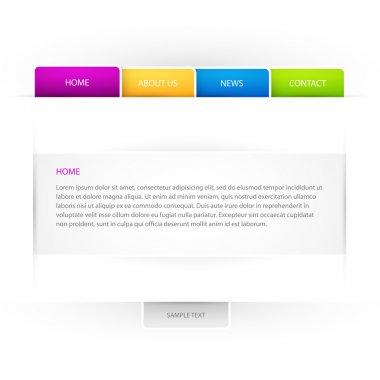Web site vector template. stock vector