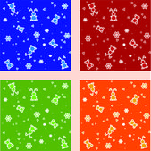 Vector set of backgrounds with toys.