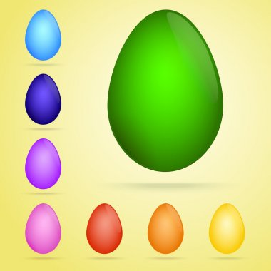 Vector set of colored eggs. stock vector