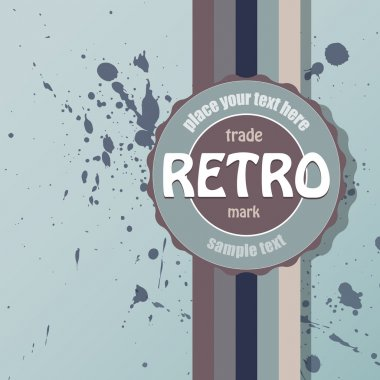 Vector retro background. Vector illustration. stock vector