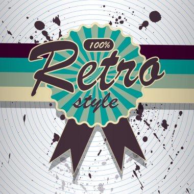 Vector retro background. Vector illustration. stock vector
