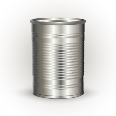 Vector illustration of a tin can. stock vector