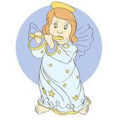 Vektor roztomilý anděl. Vektorové ilustrace.