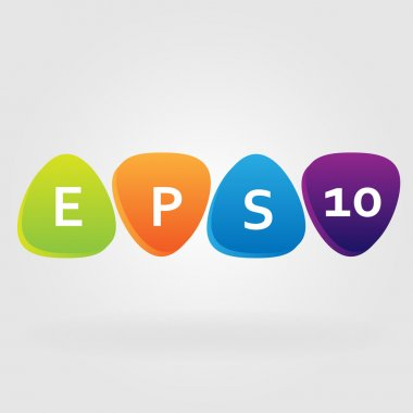 Vector background with colored elements. EPS 10 stock vector
