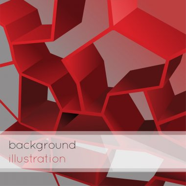 Abstract geometric red background. stock vector