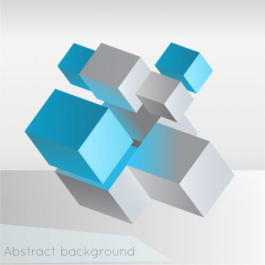 Abstract geometric background from cubes. stock vector