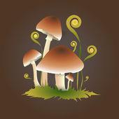 Vektorillustration von Pilzen.