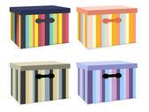 vektor sor színes dobozok.