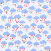 Vector background with rain of hearts.