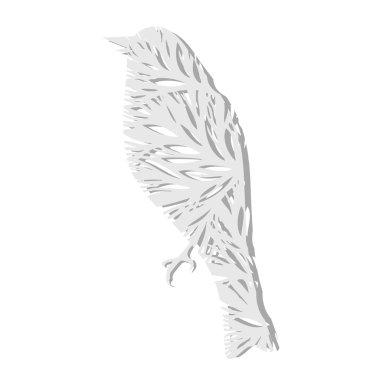 Vector paper bird. Vector illustration. stock vector