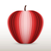 Vector illustration of a red apple.
