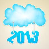 vektorové mrak s počtem od nového roku 2013.