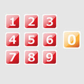 Vector set of icons with numbers.