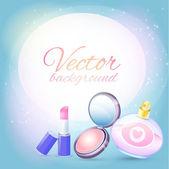 Vector cosmetics background. Vector illustration.