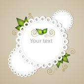 Vector floral frame. Vector illustration.