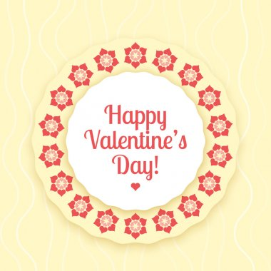 Vector card for Valentine's day. stock vector