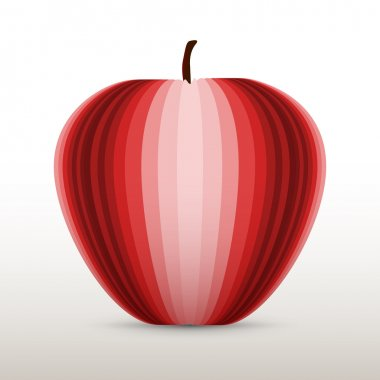 Vector illustration of a red apple. stock vector