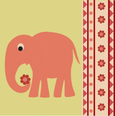 Vector background with elephant. stock vector