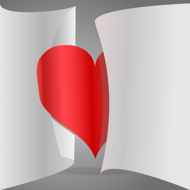 Vector paper heart. Vector illustration. stock vector