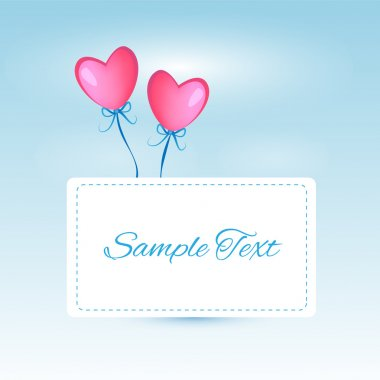 Vector background with heart shaped balloons. stock vector