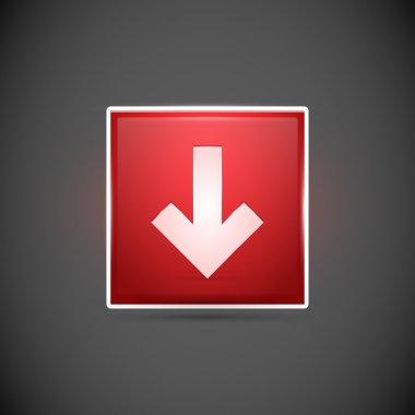 Red arrow. vector illustration. stock vector